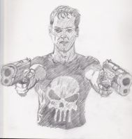 Punisher pencil sketch by Blackn-Yellow