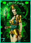 Deck of Elements - Queen of Earth by SkyDaddyD