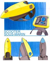 Submarine scooter (overall) by Guilhem-Bedos