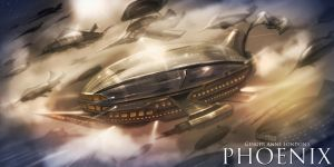 AIRSHIP ARMADA by GingerAnneLondon