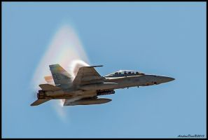 F-18 Compression Wave II by AirshowDave