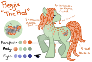 Male Tentacle Pony adopt 4 Reggie the Red Closed by mea0113