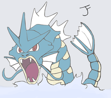 Gyarados lineart - Colored by Bubby-Bobble