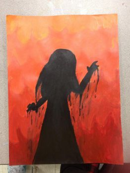 Carrie White Painting  by fourgirls919