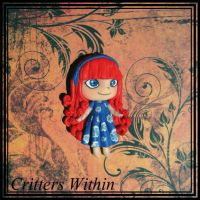 Little Girl Pendant by Lunnie
