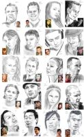 100 faces - 61-80 by StefanieOdendahl