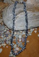 Snowflake Obsidian Necklace by Lost-in-the-day