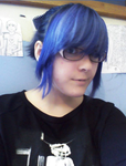 my blue hair by james-lovely2322