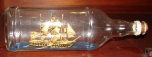 Old Ship in a Bottle Prop by FantasyStock