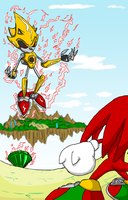 Knuckles vs Super Metallix by Morgoth883