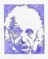 Einstein in purple by DreamsWithinMe