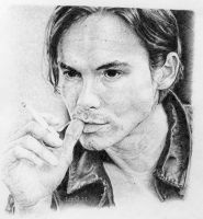 Tyler Blackburn. Black biro by artisticartery