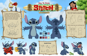 How to draw Stitch by Ribera