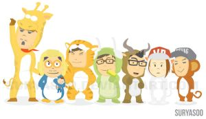 Runningman with Animal Costumes by SuryaSoo