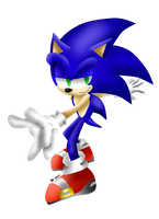 Cool sonic -colored- by Rokitoki