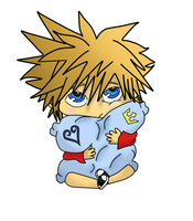 Chibi Sora Coloured by Wonelle