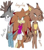 Doodles of my characters by Larka-Lover