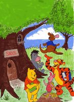 Pooh and Friends Colored by Charger426