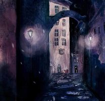night alley by tanhuitian
