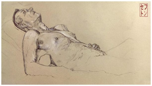 Life Drawing [12/02/2014] Tired. by JackSephton