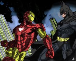 Ironman vs Batman by kelvin0gs08