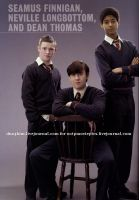 Seamus, Neville and Dean by anniehermypotter