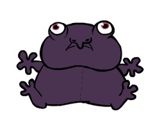 Purple Burrowing Frog by Peegeo