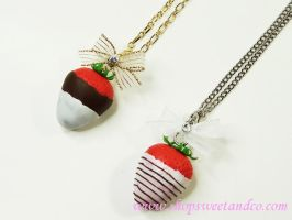 Strawberry Chocolate Necklace by SweetandCo