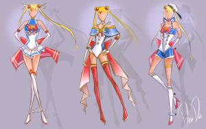 New Sailor Moon Outfit designs - Sketch (Redesign) by DeaDia89