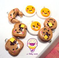 cute breakfast charms by KPcharms