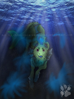 Contest entry: Mosswater  by Chibi-Cola-SkyWolf62
