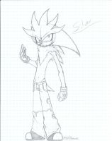 Silver the Hedgehog my style by nightmarn