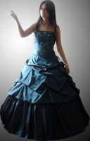 Mizzd-stock Blue Gown by Cutoutstock