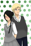 CM: Draco and Emmeline by LotteQ