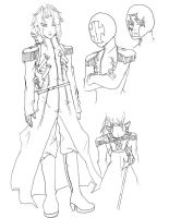 Lucian Character DesignLineart by Caim-The-Order