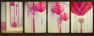 Chinese Lanterns Tetraptych by MagpieMagic