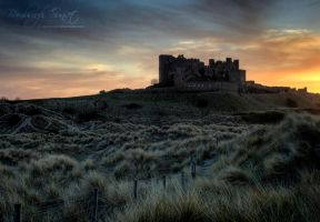 Bamburgh Sunset HDR by eyedesign