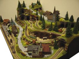 N-gauge layout - The Rabbit Warren 02 by Dirgriz