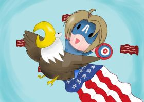 Murica! (Happy 4th of July) by StarKittyTheArtist