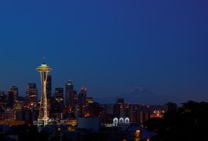 Washington Icon:Space Needle2 by UrbanRural-Photo