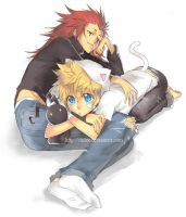 Print - Roxas and Axel by sakuragarden