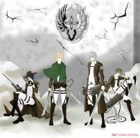 Shingeki no Vampire - The Scouting Legion by DeathScarletDevil