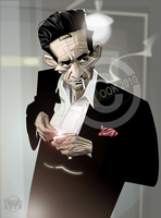Johnny Cash by RussCook
