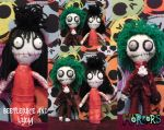 Lydia and Beetlejuice Ragdolls by Lttle-Horrors