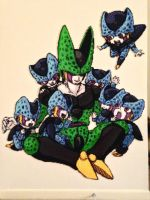 A semi-lifesize beadsprite mural! Cell and Babies! by Ellsworth-Toohey