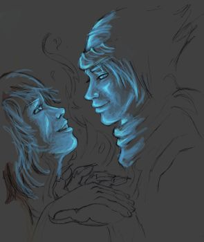 prince and elika WIP by leela4fry