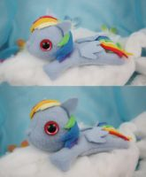 Rainbow Dash Filly Plush by bluepaws21