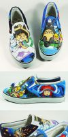 Studio Ghibli Fan Art Custom Shoe , Annatar by Annatarhouse