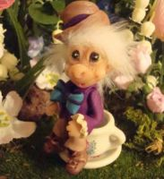 polymer clay mad hatter by crazylittlecritters