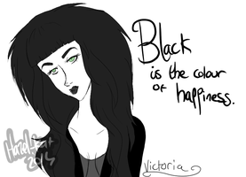 Black Is The Colour Of Happiness by Hazel-Kat
